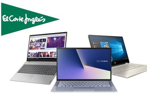 11 portátiles Lenovo, LG, HP, ASUS o Acer con hasta 150 euros de descuento, Click&Car y Click&Go o envío gratis en las ofertas de la semana de El Corte Inglés
