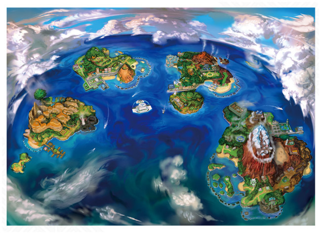 Pokemon Sol Luna Mapa