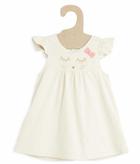 Vestido De Terciopelo Con Volantes En Las Mangas Blanco Bebe Nina Tg353 2 Zc1