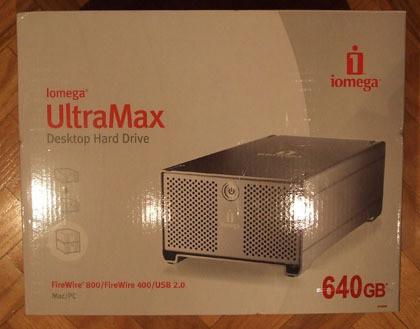 caja del iomega Ultramax