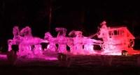 Campeonato de esculturas de hielo en Alaska