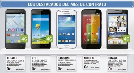 Smartphones gratis con pago único de Yoigo