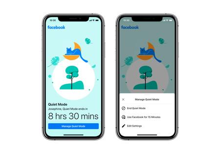 Facebook quiere que descanses de Facebook y lanza 'Quiet Mode', una función que apaga notificaciones y limita el tiempo en pantalla