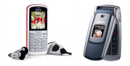 Nokia 5070 y Samsung X550, en Movistar