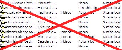 Como eliminar servicios en Windows