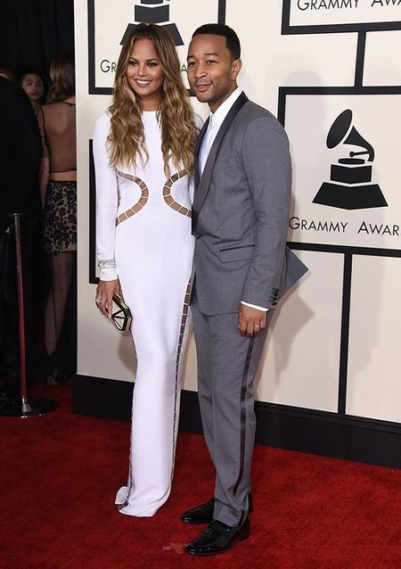 650 1000 Parejas Grammy 2015 (7)chrissy Teigen Y John Legend