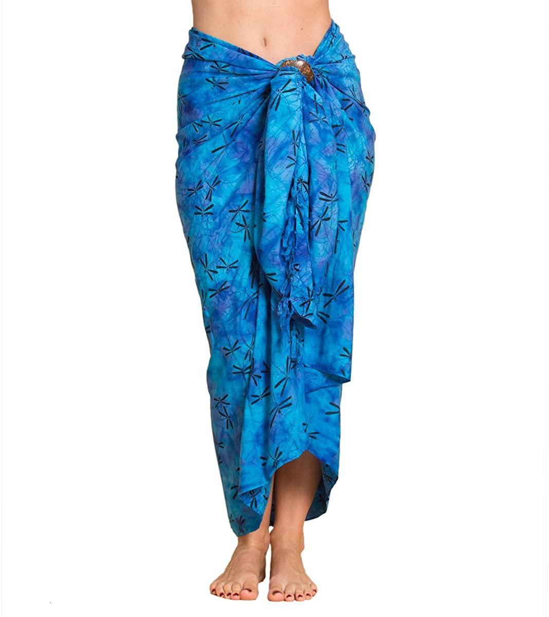 PANASIAM Sarong Pareo, toalla de playa, vestido cruzado, en un colorido diseño de batik, suaves tejidos naturales