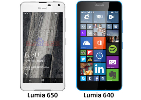 Comparación render Lumia 650 y 640