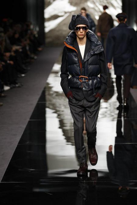 Chaleco plumas Louis Vuitton AW 2014