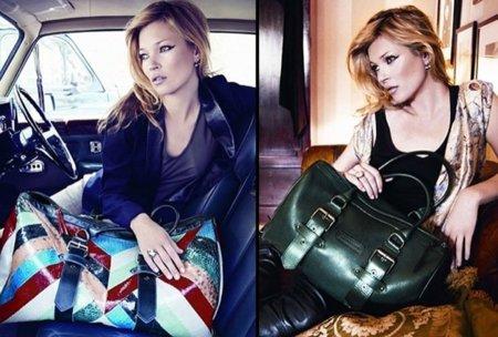 Los nuevos bolsos de Longchamp con Kate Moss: campaña Otoño-Invierno 2010/2011. Maxibolso
