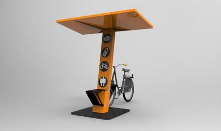 Advansolar SunPod Cyclo, un tótem móvil de recarga con energía solar para bicicletas