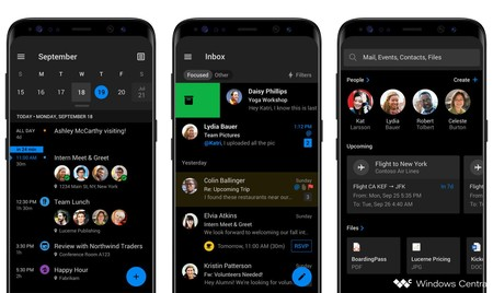 Outlook Android Dark