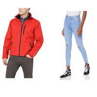 Chollos en tallas sueltas de pantalones, chaquetas  y sudaderas de marcas como New Look, Helly Hansen o Lee en Amazon