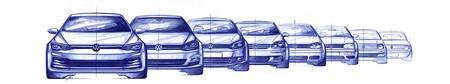 Volkswagen Golf 2020 Boceto 3