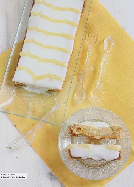 Tarta Bakewell de lemon curd. Receta