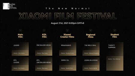 Xiaomi Film Festival Calendar