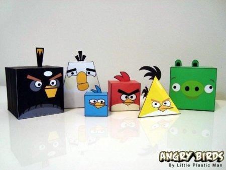 Angry Birds hechos de papel