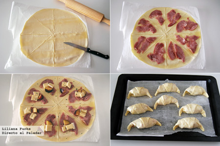 Croissants de Hojaldre. Pasos