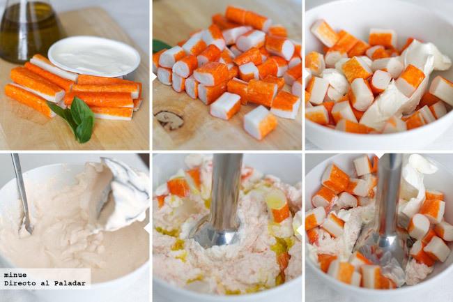 Dip de cangrejo - elaboración