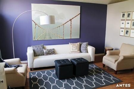 Antes y después: panelando una pared en el salón
