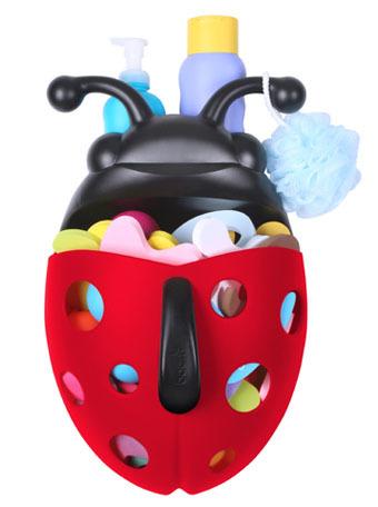 Bug Pod: mariquita para guardar los juguetes del baño