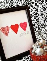Detalles sencillos de papel para decorar en San Valentín