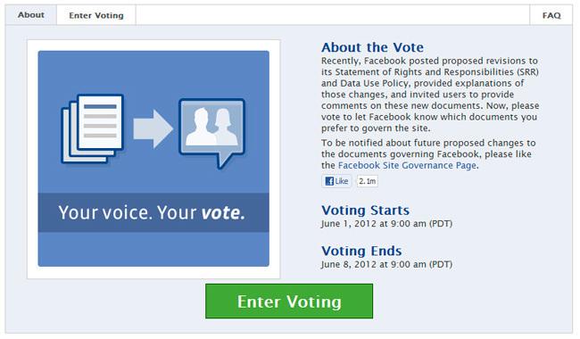 Votar Facebook