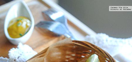 Goujons de bacalao al estilo tandoori: receta