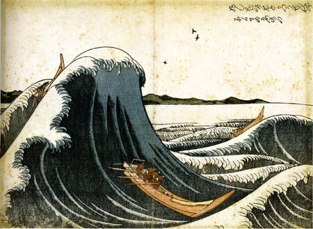 """Barco de carga luchando contra las olas"", 1805."