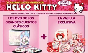 """""""El maravilloso mundo de Hello Kitty"""", colección de DVDs y vajilla"""