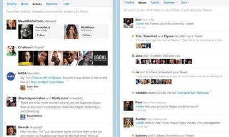 Twitter intenta parecerse a Facebook añadiendo un News Feed con actividad reciente
