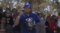 """MotoGP Estados Unidos 2012: el casco de Ben Spies y el aficionado """"suertudo"""""""