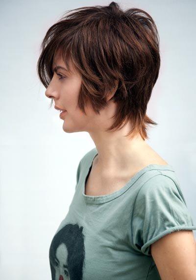 Cortes de pelo corto con mechones largos