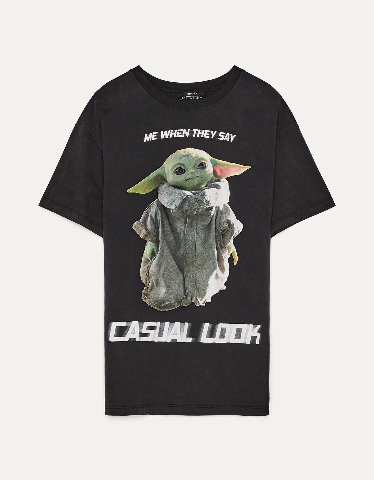Camiseta larga de color negro de Star Wars.
