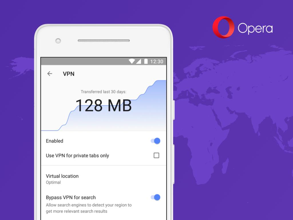 Opera añade una VPN a su navegador para Android