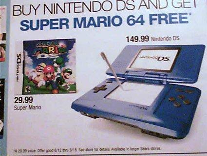 Nintendo DS más Super Mario 64 gratis
