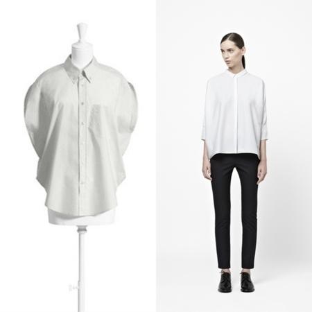 Camisa de MMM para H&M 70 euros, en COS, por 59