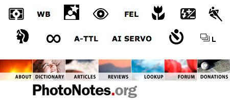 PhotoNotes.org, un diccionario de símbolos fotográficos