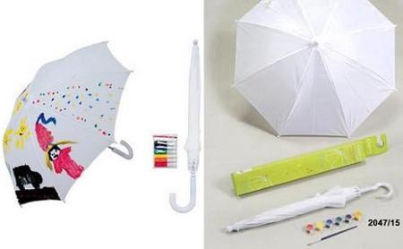Paraguas para que los peques decoren