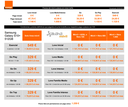 Precios Samsung Galaxy S10 De 512 Gb Con Pago A Plazos Y Tarifas Orange