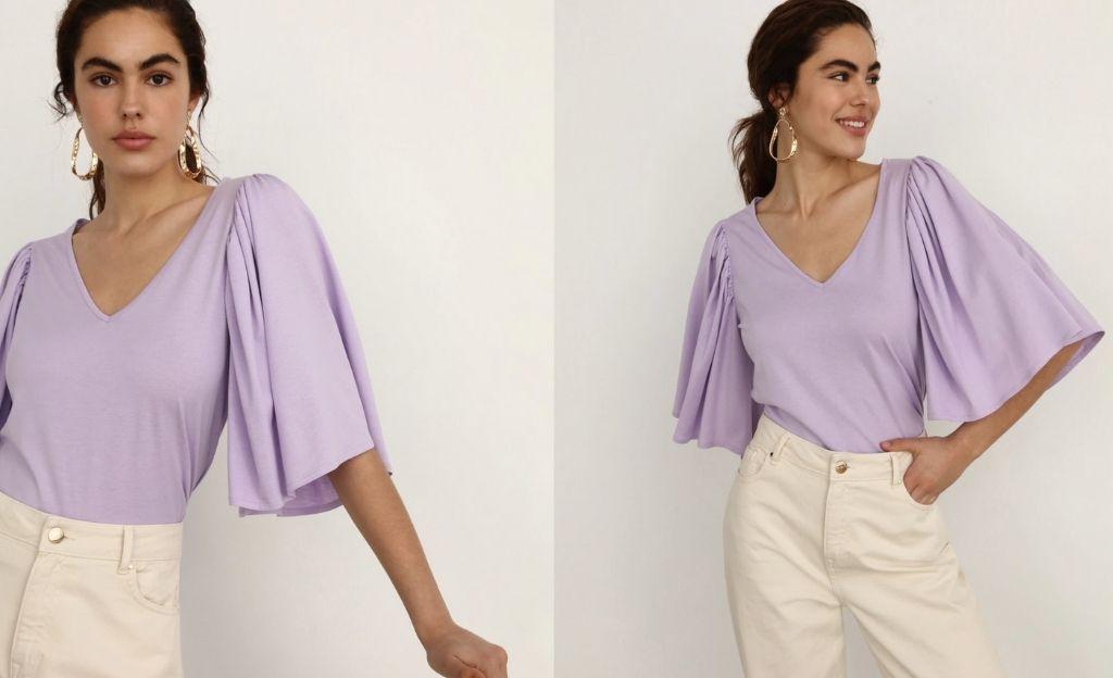 Blusa de mujer manga mariposa
