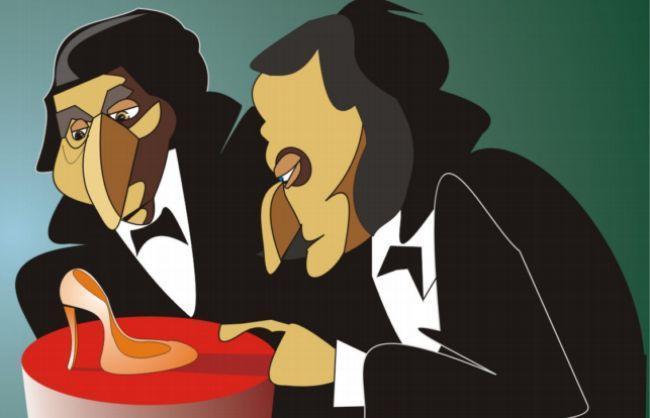 Caricatura hermanos Grimm