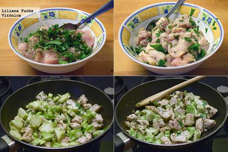 Pollo con tallo de Brocoli. Pasos