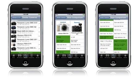 CameraKompare, información y posibilidad de comparar más de 1400 cámaras en tu bolsillo