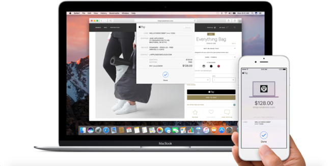 Safari 10 Con Apple Pay