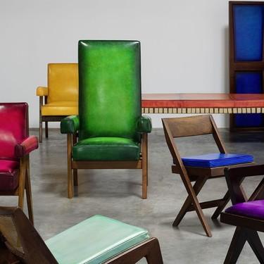 Berluti invade nuestro espacio de color con su nueva colección de muebles de la mano de Pierre Jeanneret