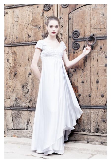 vestido plata cristina tamborero