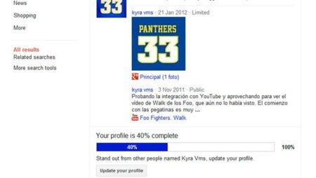 Google anima en su buscador a que los usuarios completen su perfil de Google+