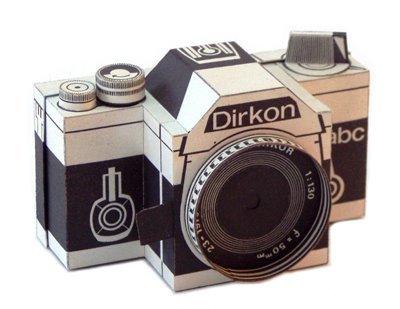 Dirkon, una cámara fotográfica de papel, totalmente funcional. Hazte la tuya