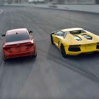 Lo nunca visto en circuito: Kia Forte 1 - Lamborghini Aventador 0, o cómo batir a un superdeportivo
